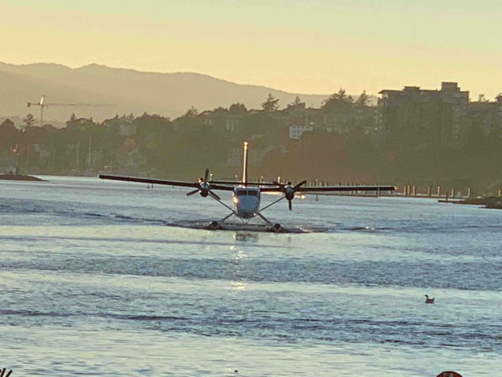 A seaplane lands in Victoria. That's a big nope from me.