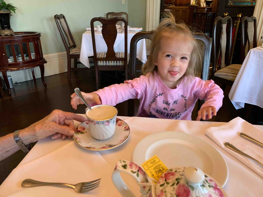 Turns out she's not a fan of the actual tea part of the tea party.