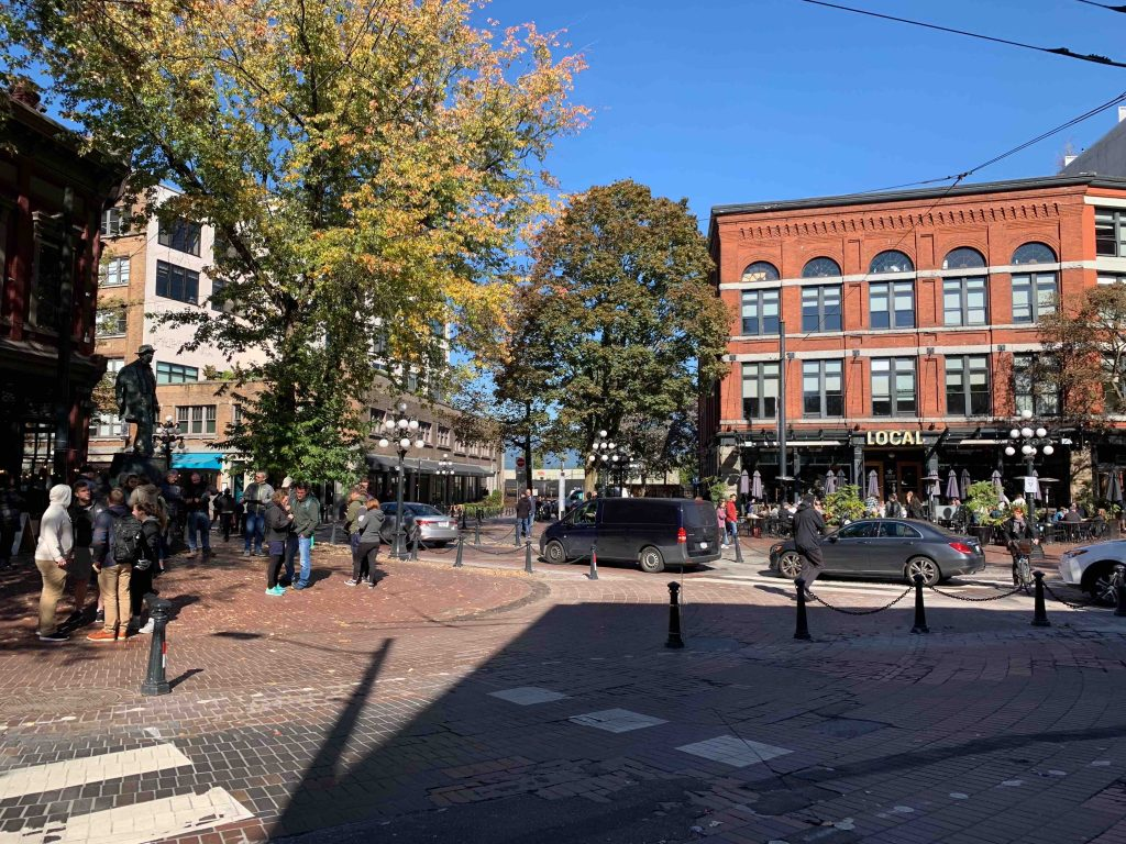 Maple Tree Square in Gastown
