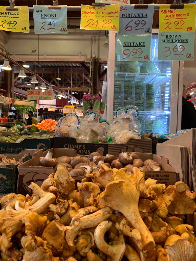 Local wild Chantarelle Mushrooms for $24.99 per lb. I'm not fancy enough to even know how to eat these.