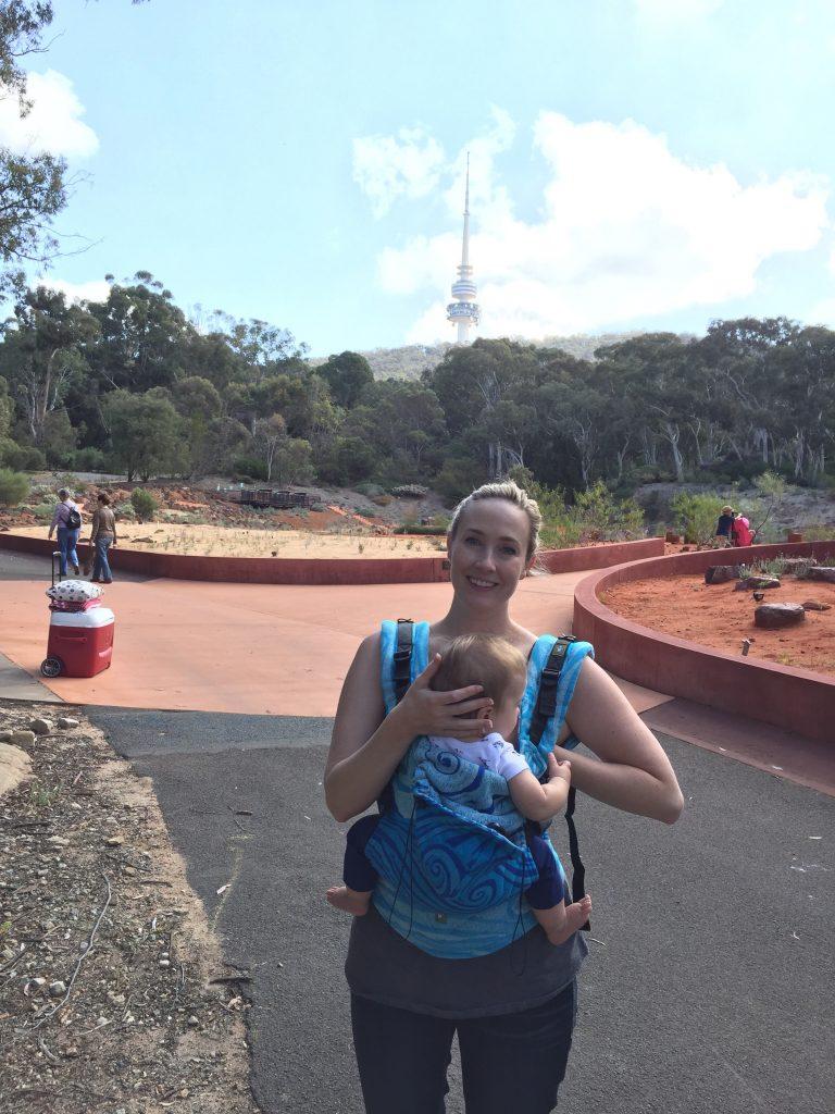 Babywearing, breastfeeding, and enjoying the Botanical Gardens. Occasionally I can multitask.