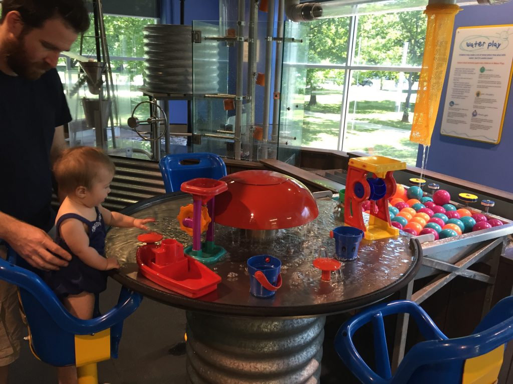 Water table fun at Questacon.