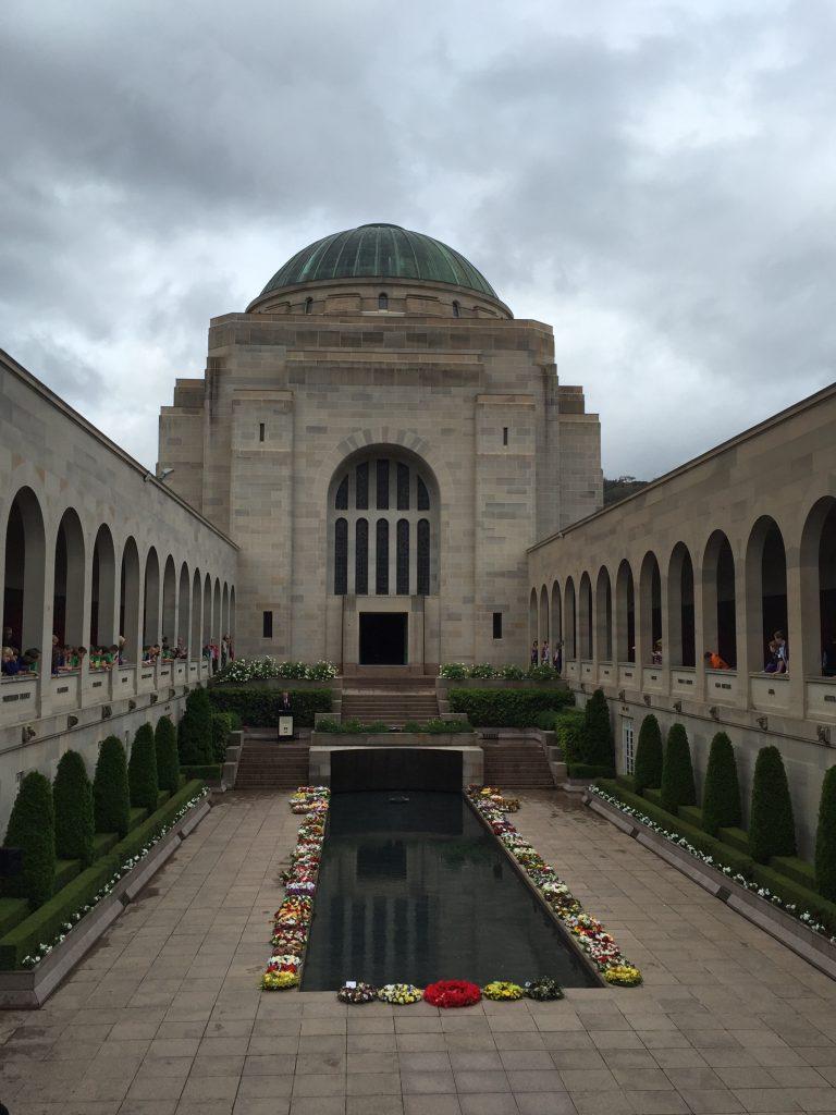 The courtyard at the Australian War Memorial.