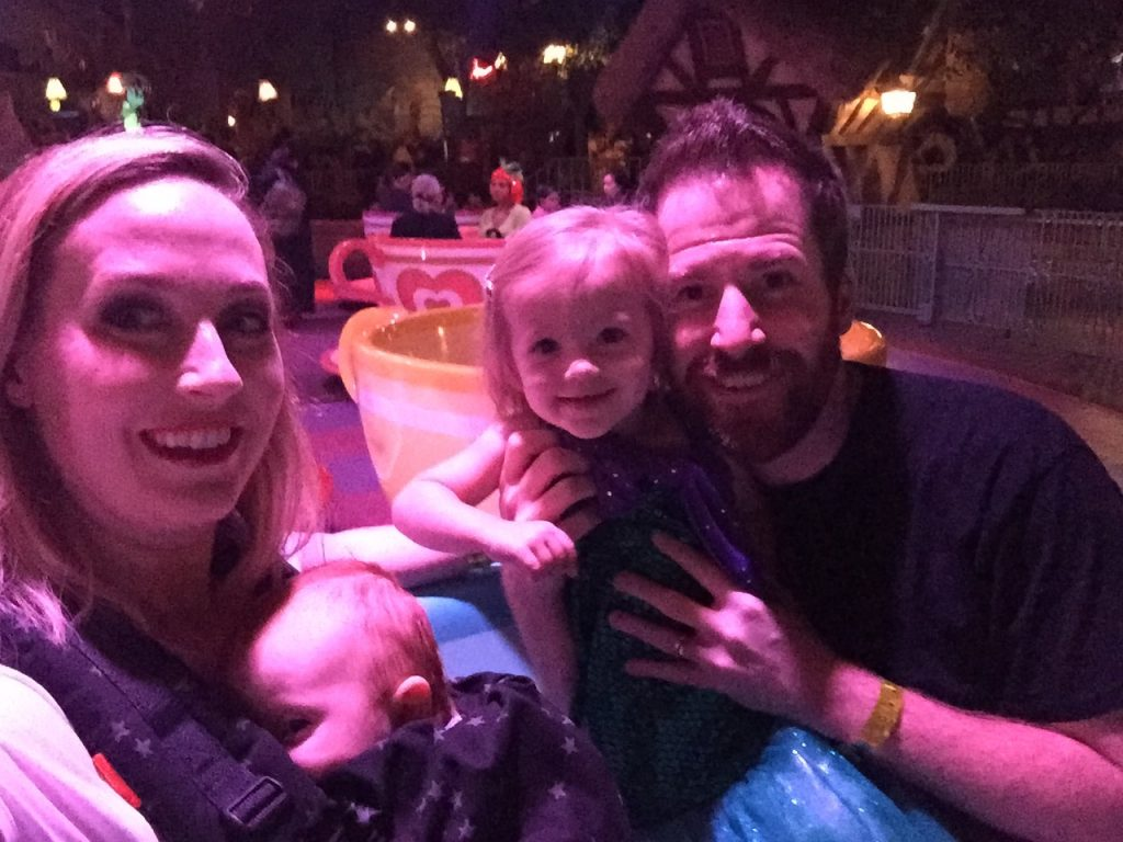 All rides and no lines make us a happy family. Disneyland Halloween Party